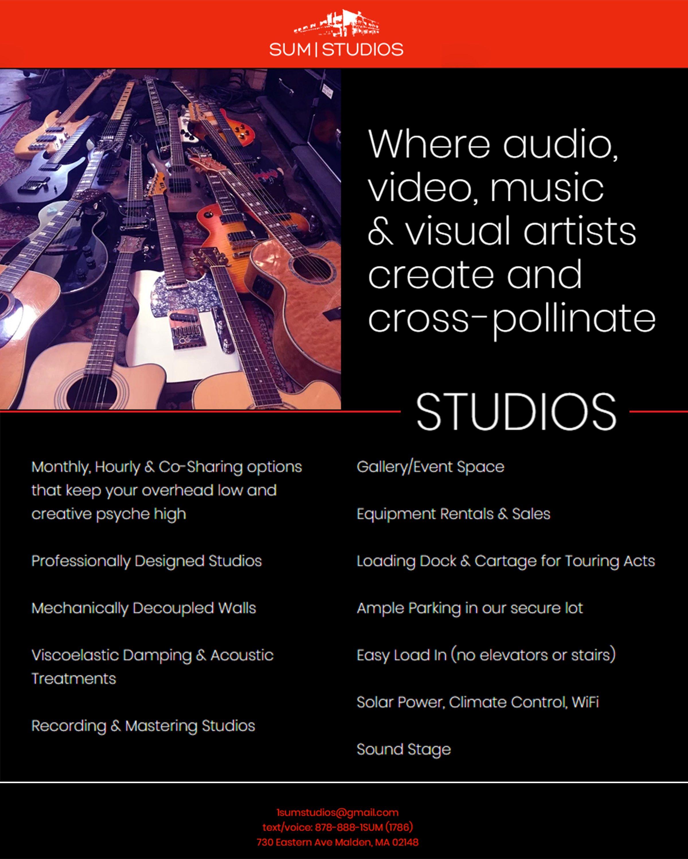 Sum Studios Flyer